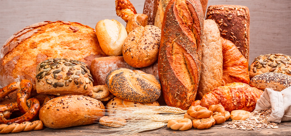 Assortment of breads and buns